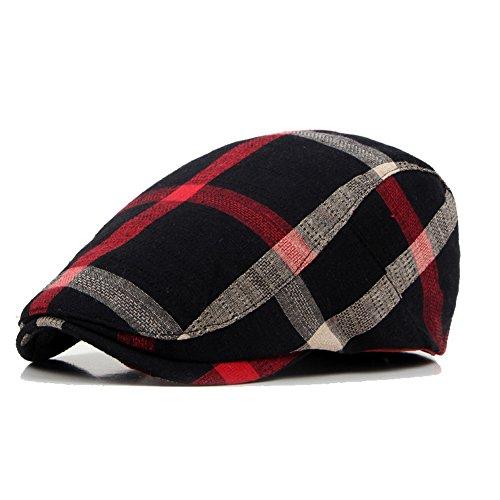 Adantico Unisex de la Boina Sombrero (Negro)