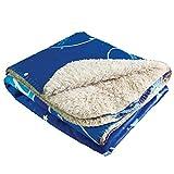 Custom Photo Sherpa Mink Blanket, Sherpa Lined Micro Mink Throw, Ultra Plush, Extreme Comfort, Personalized Plush Photo Throw, Ultra Soft Faux Sheepskin Sherpa Blanket (Large: 50' X 60')