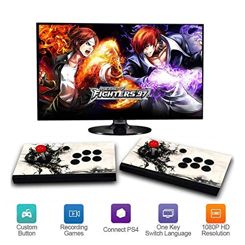 HLLGAME Pandora's Box 3D Home Arcade Game Console | 2350 Retro HD Games | Full HD (1920x1080) Video | 2 Speler Game Controls | Ondersteuning Multiplayer Online | HDMI/VGA/USB/AUX Audio Output, QV-02