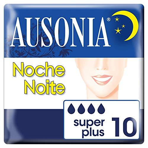 Ausonia Clásica Noche Compresas Higiénicas sin alas, 10 unidades