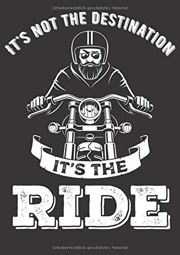 Preisvergleich Produktbild Mein Motorrad Tourenbuch: Dein persönliches Reisetagebuch für Motorrad Touren und Motorrad Reisen für über 100 Touren Großzügiges A4 Format Motiv: The ride