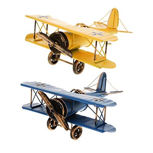 yotijar Avión Militar Juguete Modelo De Metal Avión Antigu