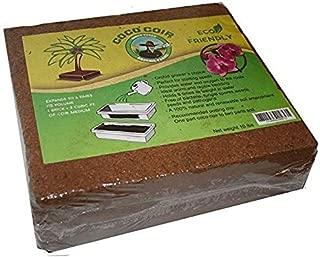 Green Texan Organic Farms Compressed Coconut Coir Brick, 11 Pound (lb) (11 Pound)