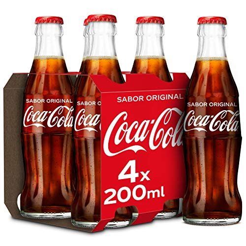 CocaCola Regular en Botella de Cristal, 4 x 200ml