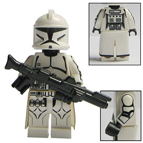 Custom Brick Design Republik Clone Trooper Figur V.2 - modifizierte Minifigur des bekannten Klemmbausteinherstellers und somit voll kompatibel zu Lego