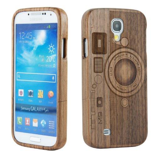SunSmart - Cover, Custodia Rigida Walnut M9 in Legno Naturale di bambù, Fatta a Mano, per Samsung Galaxy S4 I9500, Protezione Schermo Inclusa