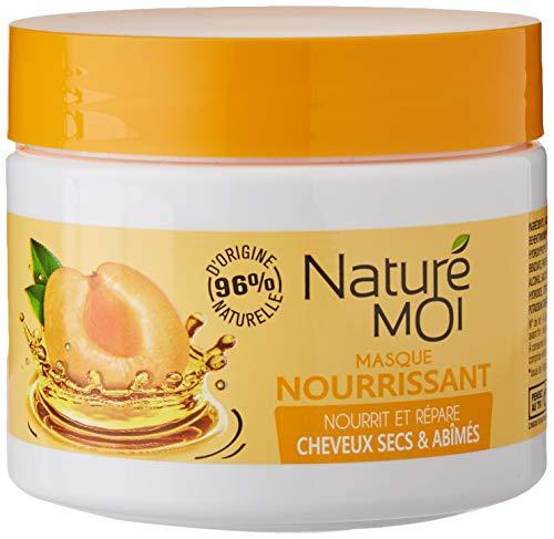 Naturé Moi – Masque nourrissant – À l'abricot du Roussillon et l'huile d'argan bio – Protège et répare les cheveux secs ou abîmés – 300ml