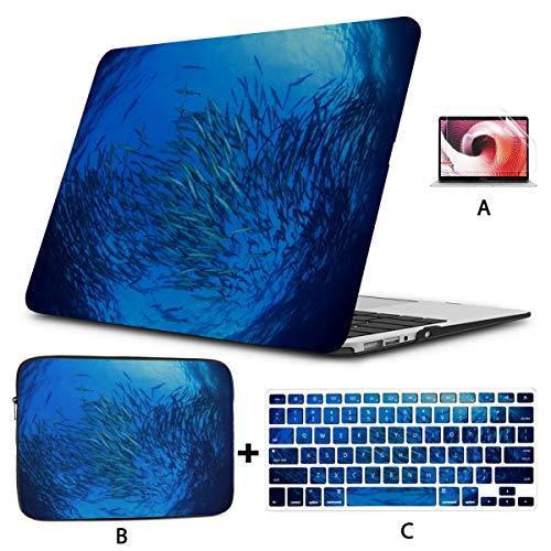 Fundas para Macbook Air Coral Reef Sea Fish Macbook Air Case 13 Hard Shell Mac Air 11'/ 13' Pro 13'/ 15' / 16'con Funda para portátil para Macbook 2008-2020