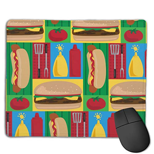 -Fire-Up-Grill-by-Lisa_Kubenez Office Mouse Pad Personalized Mouse Pad Desk Accessorie 18 * 22cm