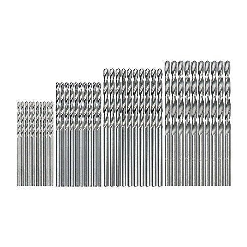 REFURBISHHOUSE 40 Stuecke Mini Bohrer HSS Bit 0.5mm-2.0mm Zylinderschaft PCB verdrehter Bohrer Set