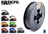 BASICFIL PET 1.75mm, 500 gr filamento de impresión 3D, Plata