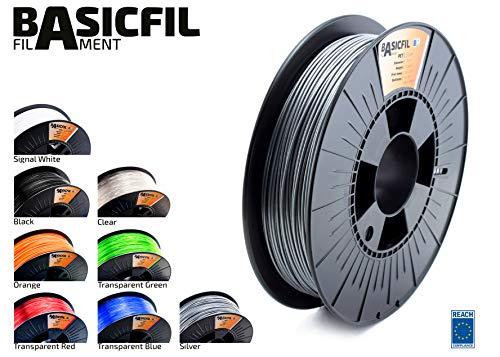 Basicfil PET 1.75mm, 500 gr filament pour imprimate 3D, Argent