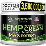 Extra Strength Hemp Cream Pain Relief Rub –...