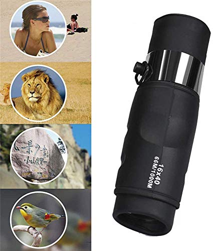 Monoculaire Pirate Telescope, 16x40 High Power HD Monoculair Low Light Level Night Vision Mini Telescope Clear FMC BaK4 -Voor Bird Watching/Kamperen/Wandelen