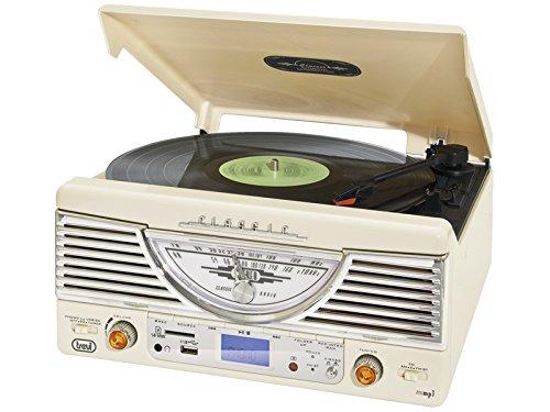Trevi TT 1062E – Tocadiscos de diseño retro años 50 con