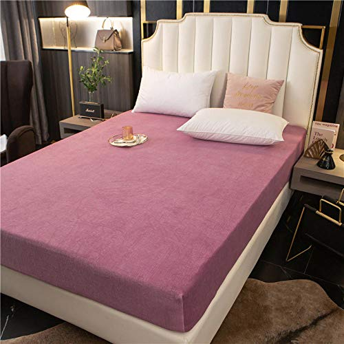 GTWOZNB Bed Sheets, Ultra Soft Silky Smooth and Wrinkle-Resistant Winter bed sheet thickening-red bean paste a38_180*200+25cm