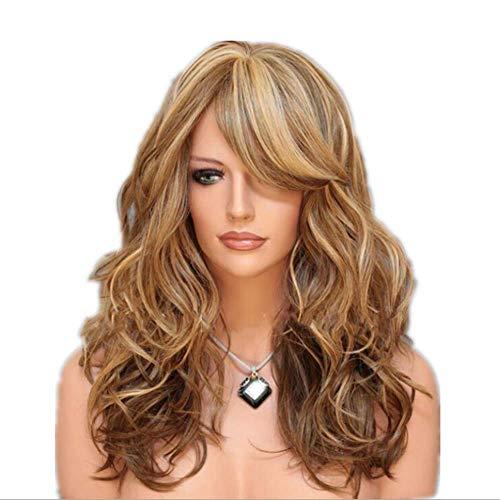 Fleurapance Halloween Golvend Pruiken voor Vrouwen Lange Synthetische Haar Blond Pruik uk voor Vrouwen Hoge Kwaliteit Hittebestendige Fiber Half Hand Gebonden 26 inches