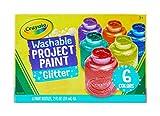 Crayola - 6 pots de peinture métallique lavable - Peinture et accessoires - 256328.006