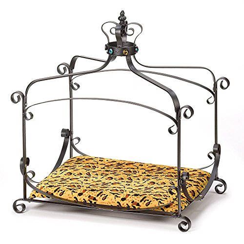 Royal Splendor Pet Metal Canopy Bed Small Dog Cat Puppy by Furniture...