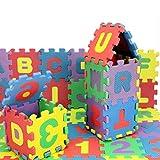 StyleBest Alfombrilla de Juego de Espuma para niños, Alfabeto, y números Alfombrilla de Juego de Espuma de 36 baldosas Ideal para Que los niños aprendan y jueguen.