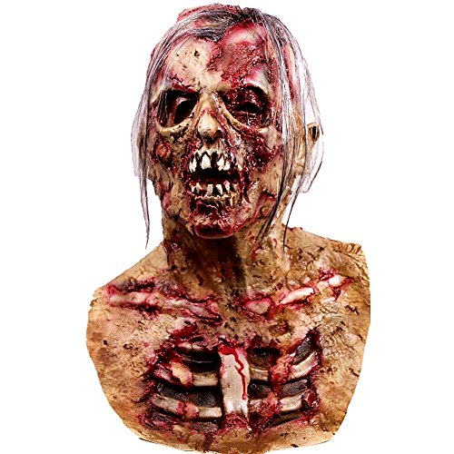 molezu Walking Dead Vollkopfmaske, Resident Evil Monster Maske, Zombie Kostümparty Rubber Latex Maske für Halloween