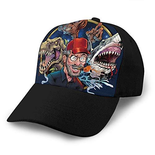 Hongyanw Gorra de béisbol Steven Spielberg Películas Tribute Dad Sombrero ajustable transpirable para hombres mujeres negro