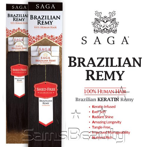 MilkyWay Remy Human Hair Weave SAGA Brazilian Remy Yaky [10'] (1)