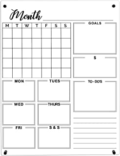 $65 » Acrylic Calendar-Dry Erase Calendar- Clear Acrylic Wall Calendar- Calendar White Board Dry Erase for Wall - Monthly Perpet...