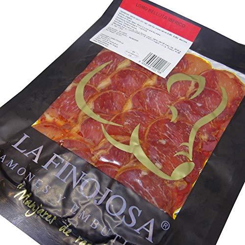 Lomo Bellota Ibérico La Finojosa (Los Pedroches) Loncheado y envasado al vacío. Lote 10 paquetes de 100 gramos/ud.