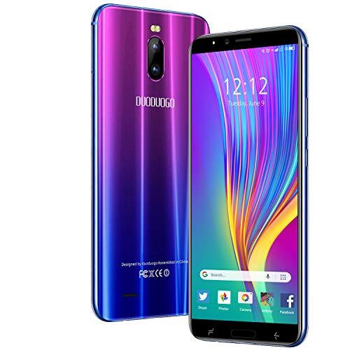Smartphone Offerta del Giorno 4G, 6.0 HD+ Android 9.0 3GB RAM +16GB ROM 128GB TF Cellulari Offerte 4800mAh Dual SIM 8MP Fotocamera Face ID Telefonia Mobile DUODUOGO J6+ (Viola)