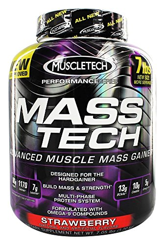 MuscleTech Mass-Tech, Strawberry - 3180g