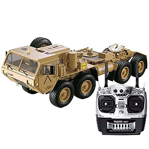 UJIKHSD 1/12 Simulación Camión Militar Modelo 8WD Camión Militar Tractor Aleación RC Camión Todoterreno Sonido Y Ligero Vehículo De Material Pesado Todo Terreno RC Colección De Vehículos De Escalada