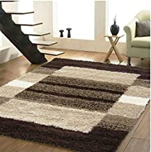 Yazlyn Collection Polyester 5D Modern Plain Shaggy Carpets and Rugs for Hall, Offices, Cabin, Multicolour