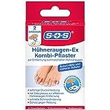 SOS Hühneraugen-Ex Kombi-Pflaster, Hühneraugen Pflaster für sofortige Druckentlastung, Hühneraugen Entferner mit Salicylsäure, schnelle Schmerzlinderung und Schutz gegen Reibung, 1 x 24 Pflaster