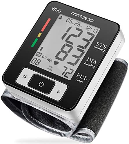 MMIZOO Digital Blood Pressure Monitors Fully Automatic Wrist Blood Pressure Monitor with Wristband product image