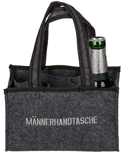 Bada Bing Flaschenhalter Filz Männerhandtasche Getränkehalter Flaschentasche Für 6 Flaschen Männer Geschenk Edel 63