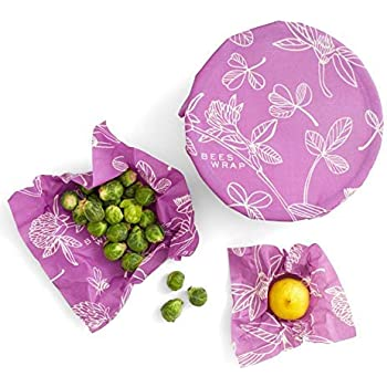 Bee's Wrap Assorted 3 Pack, Made in USA, Eco Friendly Reusable Beeswax Food Wraps, Sustainable, Zero Waste, Plastic Free Food Storage - Small, Medium, Large
