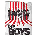 Xaviera Doherty The Boys Black Superman Piquetes Película Artística Terciopelo Manta de 80 x 100 cm, cómoda manta de felpa cálida para cama/sofá/sala/habitación/dormitorio,