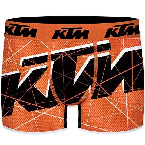KTM heren boxershorts microvezel WEB6 Oranje Zwart