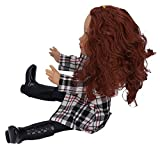 Ufolet Reborn Baby Vinyl Doll Ecológico Exquisita Moda Muñeca Ropa a Cuadros Muñeca Niños Muñeca Niña para niño(Q18-751 Black and White Check Coat White Skin)