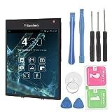 sjlerst Conjunto de Pantalla táctil LCD Negra con Kit de Herramientas de extracción para Blackberry Passport Q30, Pantalla LCD Original Nueva