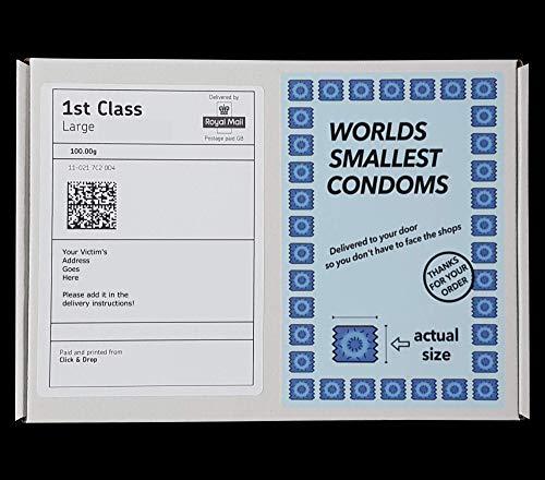 Regalos de dedo medio – Pequeños condones – Caja de regalo de broma – Divertido y grosero correo – Enviado directamente a un ser querido/objetivo/víctima (100% anónimo)