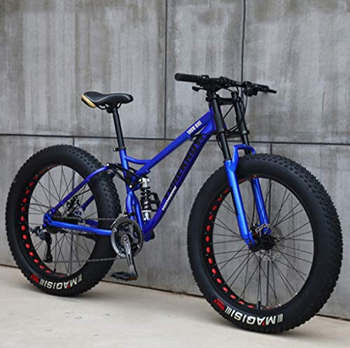 Purchase Kunze Adult Mountain Bikes, 24 Inch Fat Tire Hardtail Mountain Bike, Dual Suspension Frame ...