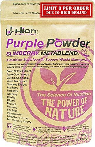 Hion Purple Powder - SLIMBERRY METABLEND | 30 Servings | Winner of