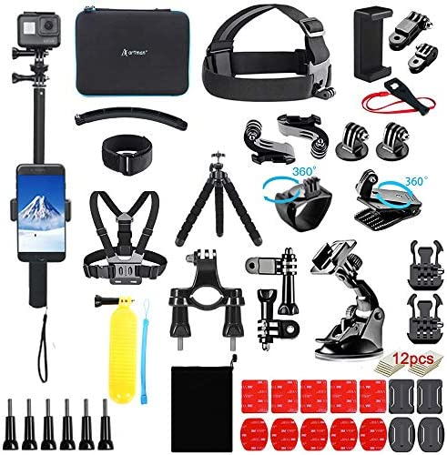 Artman 61 in 1 Upgraded Action Camera Accessories Kit Compatible with GoPro Hero 9 8 Black Max product image
