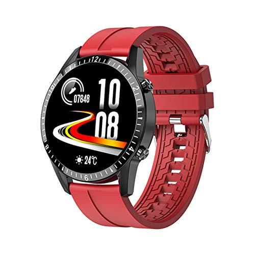 ZRY Nueva Llamada Bluetooth I9 Smart Watch Men's y Women's Sports Fitness SmartWatch Tarifa cardíaca Monitoreo de presión Arterial Android iOS Teléfono móvil Smartphone,C