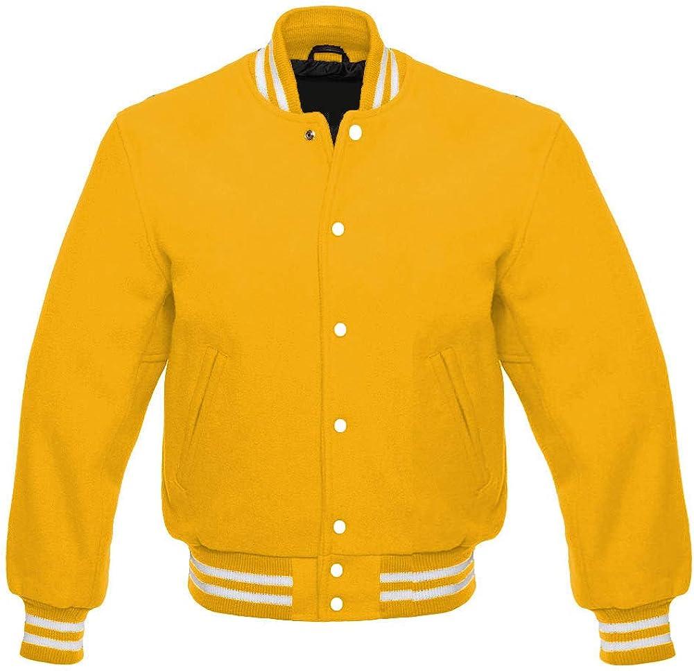 Varsity Letterman Baseball Bomber Vintage Retro All Wool Super American Jacket