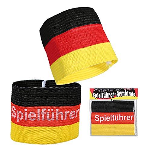 Preis am Stiel 1 x Spielführerbinde - Deutschlandflagge | Fanartikel | Public Viewing | Fanbekleidung | Fanartikel Deutschland | Spielführerbinde Deutschland | WM Fußball | Deutschland Accessoires WM