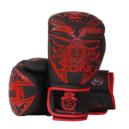 ZONI Guantes de boxeo de lucha, artes marciales mixtas y muay thai,...