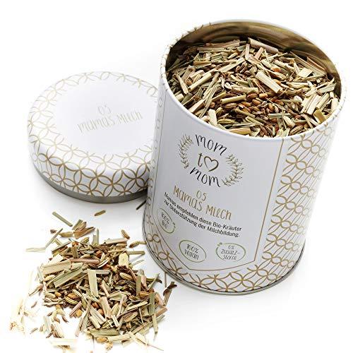 Mom to Mom® Mamas Milch - Stilltee, Bockshornklee Tee - Für eine angenehme Stillzeit - 70g lose Bio Tee Kräuter (Bio-Zertifiziert)